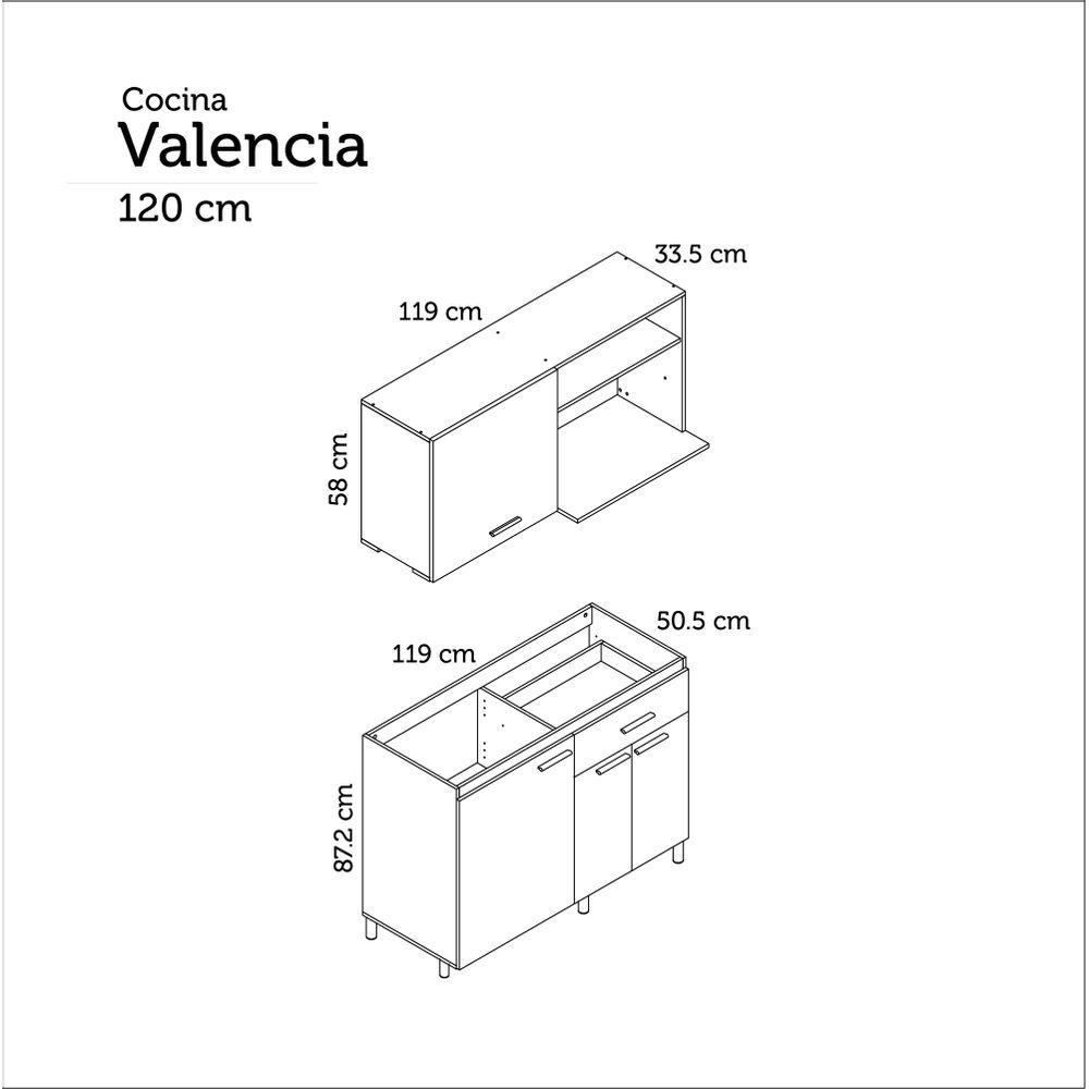 Cocina Integral Valencia 1 20m Socoda Mobile