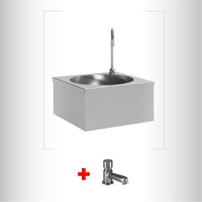 Combo-Lavamanos-pared-acero-inoxidable---Grifo-Push-TLP-03