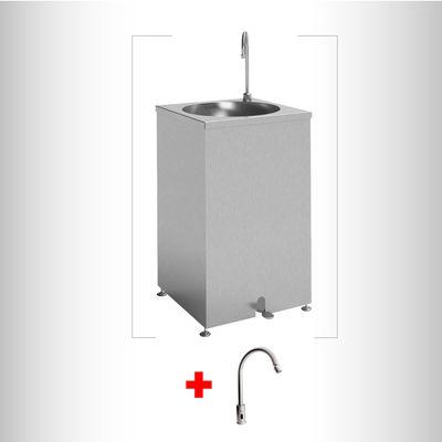 Combo-Lavamanos-acero-inoxidable-Autoportante---Grifo-Sensor-Electrico